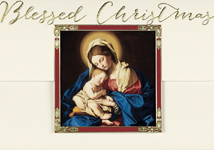 Madonna and Child at Rest Religious Christmas Cards